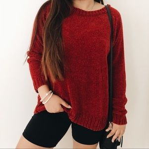vintage 90s Red Super Soft Oversized Sweater